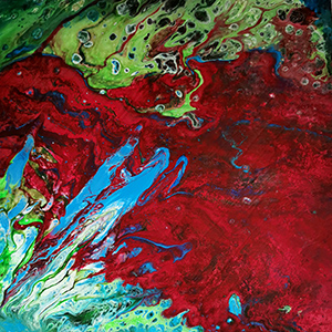 No 14 Marion Red and Blue 30x30