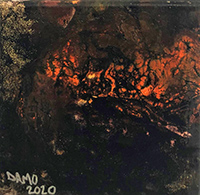 No 18R Damo Australia Burning 4 20cm x 20cm